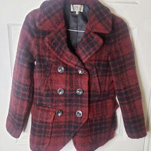 L.L. Bean Alpaca & Virginia Wool Plaid Coat